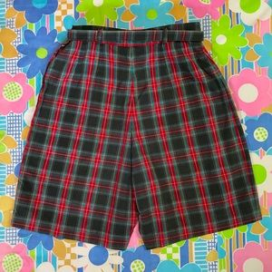 Vintage 1950s plaid Bermuda shorts juniors 22/23""